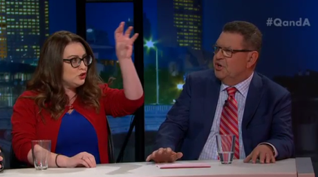 Steve Price calls Van Badham hysterical on ABC's Q&A;.