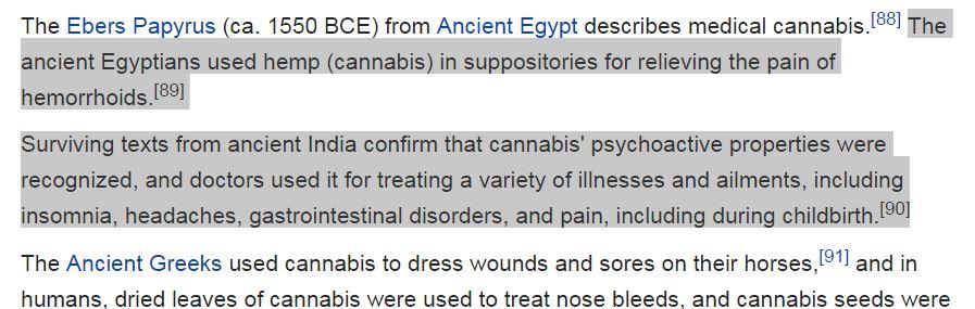 The Wikipedia entry for medicinal marijuana