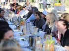 Heartland Festival-goers enjoy the Long Table Lunch.