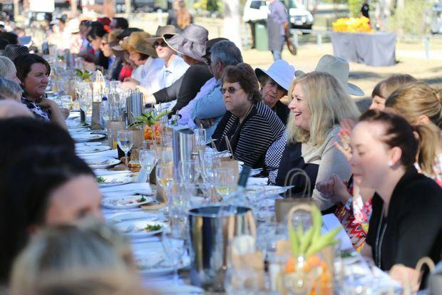 Heartland Festival-goers enjoy the Long Table Lunch.