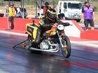 ADRENALINE RUSH: Kerry Ellis reaches 177MPH at the Springmount Raceway All Bike meeting near Cairns.Photo: Paul Donaldson / NewsMail