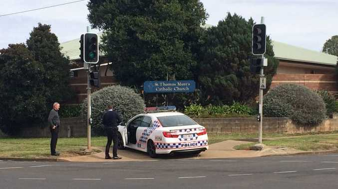 A man, 38, is arrested at the corner of Ramsay St and South St on suspicion of attempted armed robbery.