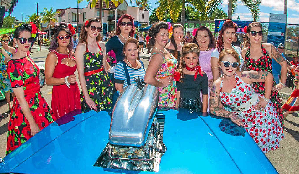 IT'S BACK: Revvin the Reef and 'Miss Pin-Up' will be back at the Whitsunday Reef festival in 2016. Photo Andrew Pattinson / Vampp Photography