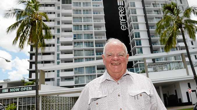 Geoff Murphy in a file photo in front of the EmpIre - one of the many projects his company has completed.