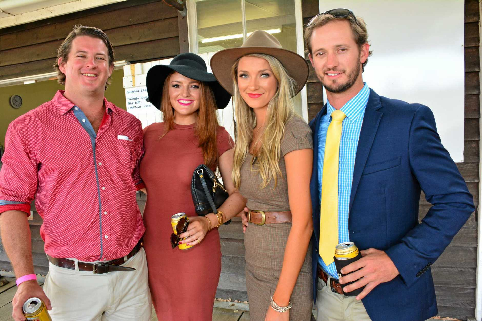 Jack Hatfield, Bridie Dunn, Daisy Hatfield and Adam Hatfield. Photo: Aiden Burgess / South Burnett Times