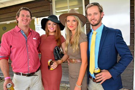 COUNTRY GIRL: Daisy Hatfield (third from left) at the country races a few years back.
