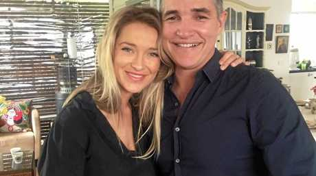 LOVED UP: Daisy Hatfield and Robbie Katter MP.