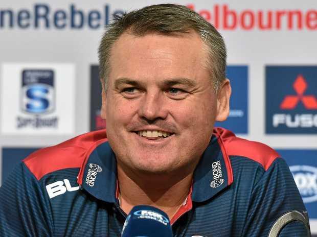 SEASON ENDING: Queensland Reds interim co-coach Nick Stiles addresses the media.