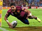 IN AGAIN: Dane Gagai of the Queensland Maroons scores a try during game two of the State of Origin series against the NSW Blues at Suncorp Stadium.