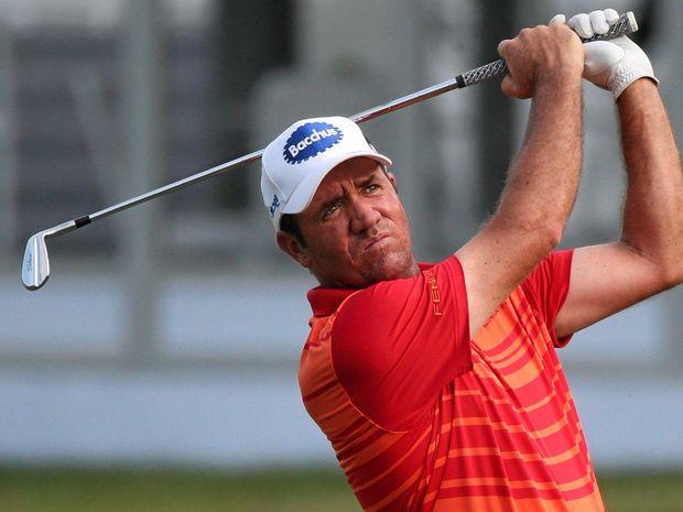 RIO-BOUND: Scott Hend of Australia in action.