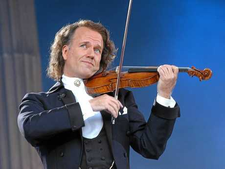 WALTZ MASTER: Andre Rieu pictured during his annual Maastricht Concert, which will be shown across the country this July.