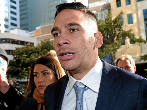 DRUGS CHARGES: Parramatta Eels NRL player Corey Norman arrives at court in Sydney.