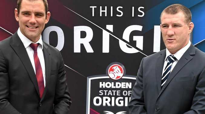 GAME ON: State of Origin captains Cameron Smith from Queesland and Paul Gallen from NSW.