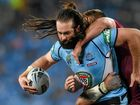 New South Wales produced a miracle win of its own over Queensland as captain Paul Gallen kicked a farewell Origin goal in a pulsating 18-14 victory.