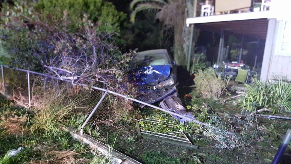 A male driver was taken to hospital after a crash at Blackstone overnight.