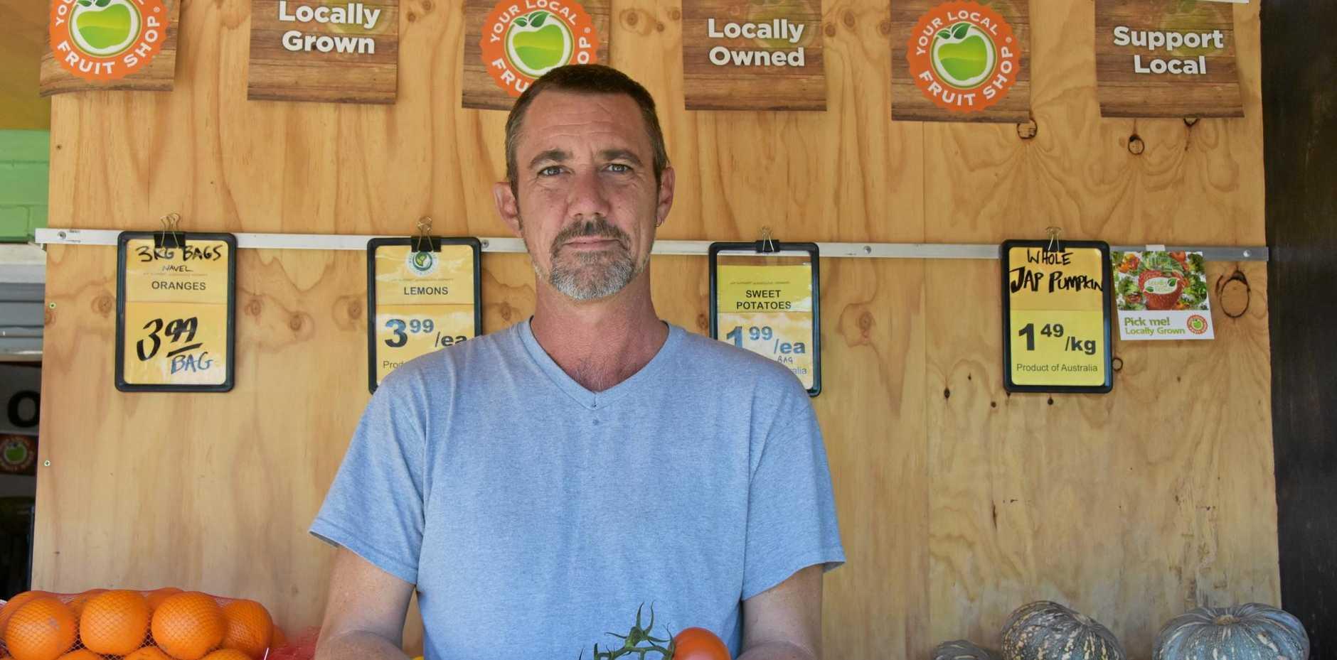 GOOD QUALITY: Maluka Produce manager Jamie Knight pledges freshness.