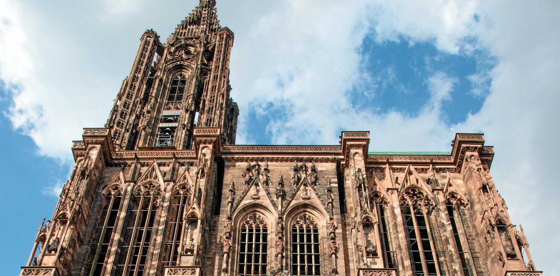 The Cathedrale Notre-Dame in Strasbourg, France, is the sixth tallest church in the world.