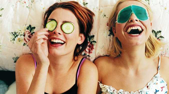 A cucumber mask is very refreshing and a great 'pick me up' for skin.