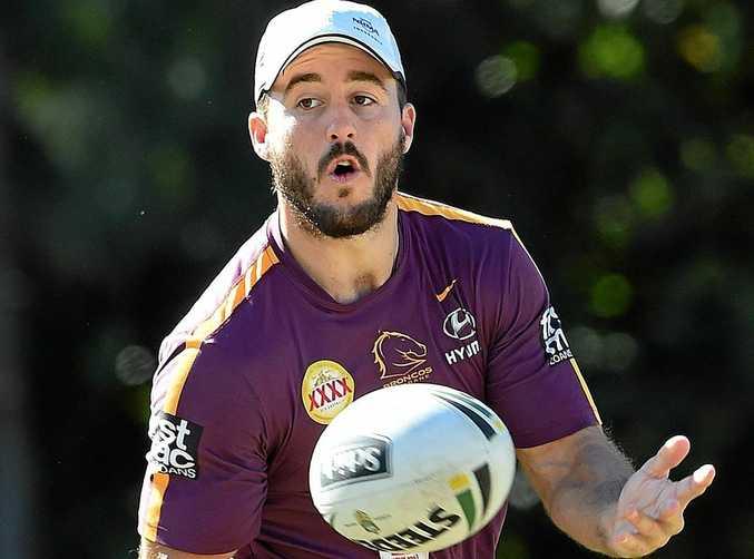 FORM SLUMP: Ben Hunt during the Brisbane Broncos training session at Red Hill in Brisbane.