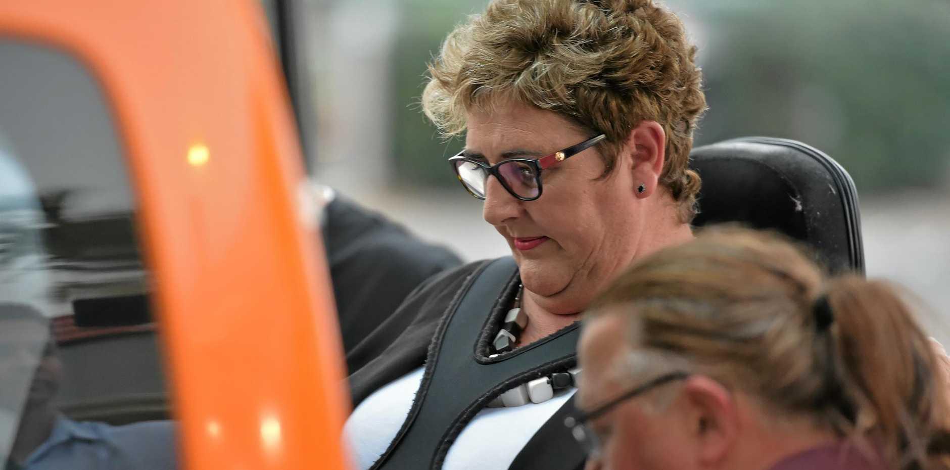 BE Lifestyle managing director Belinda Wardlaw leaves Maroochydore Court House.