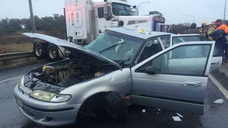 A horror crash near Toowoomba on the Warrego Hwy.