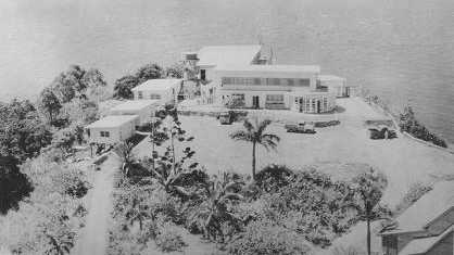 The Pacific Hotel at Eimeo, which was rebuilt by the licensee Mrs L. Driscoll about 1949.