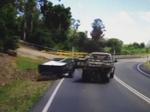 Dash Cam of runaway trailer