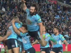 Origin 2016: World laughs at Aaron Woods' hilarious crash