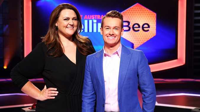 Chrissie Swan and Grant Denyer host the TV series The Great Australian Spelling Bee.