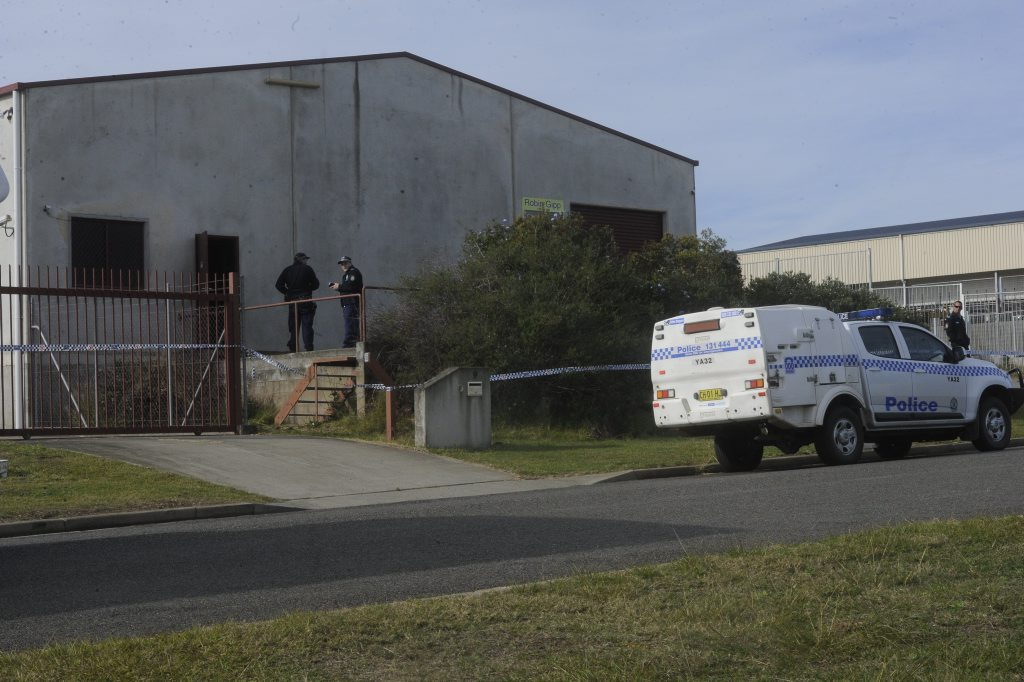 A business on Induna Street in South Grafton was blocked off by police this morning.