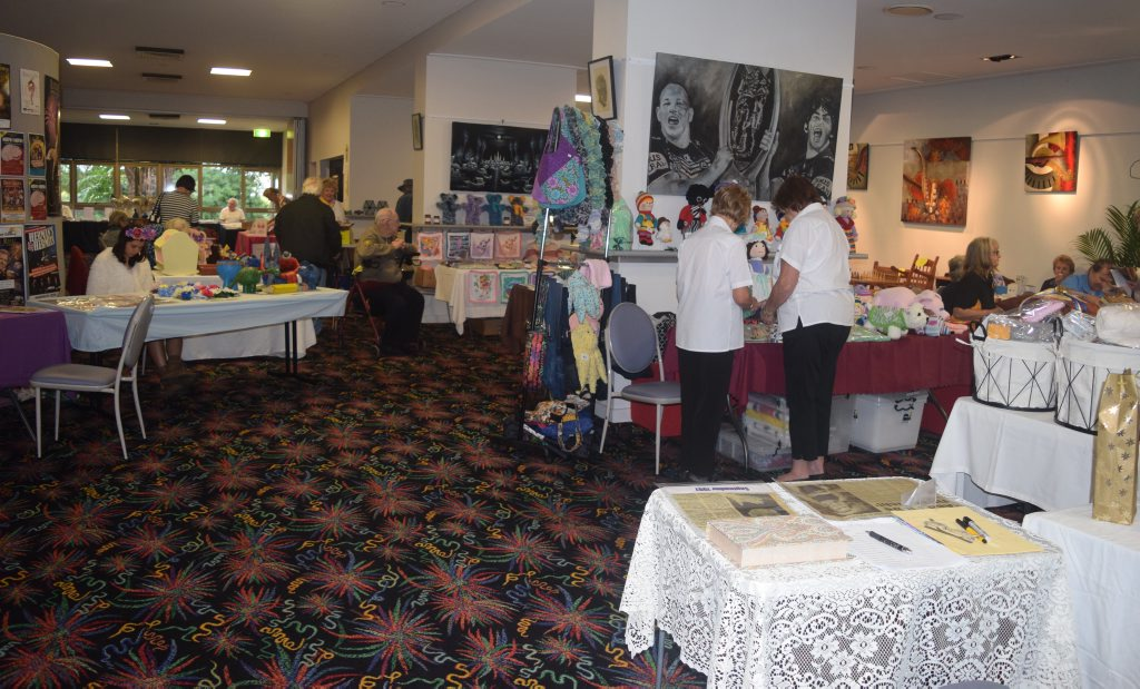 ART: The ESA's Arts and Craft Expo is well underway at Proserpine Entertainment Centre. Photo Inge Hansen / Whitsunday Coast Guardian.