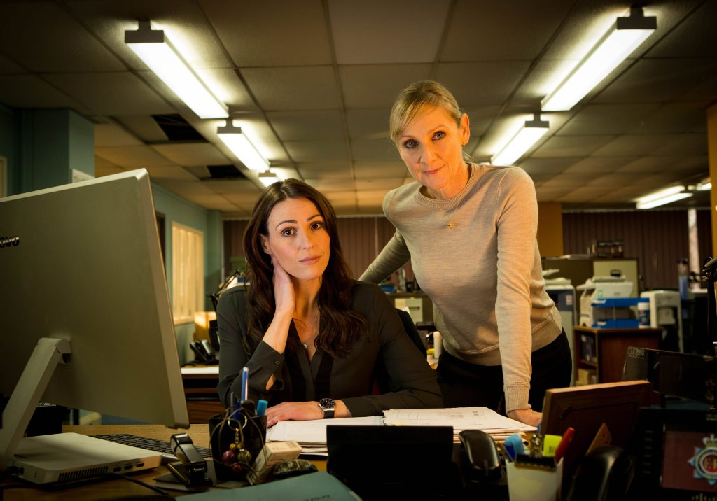Lesley Sharp and Suranne Jones in a scene from the TV series Scott & Bailey.