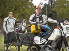 Pair ride across Australia to save young kids' lives