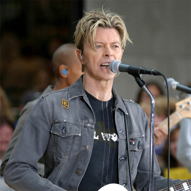The late singer David Bowie