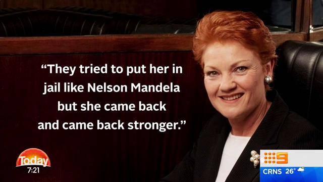 The Today show's meme comparing Pauline Hanson to Nelson Mandela.
