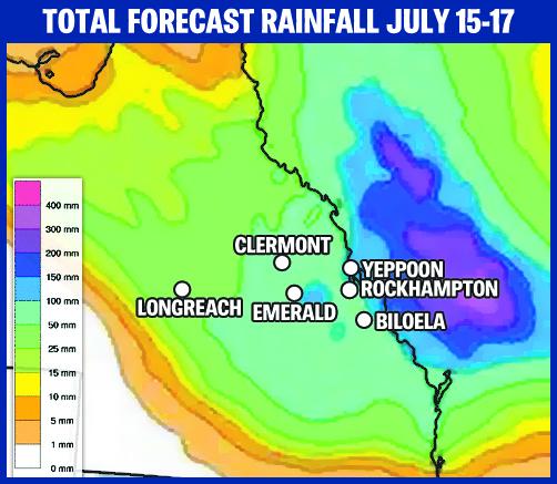 Rockhampton rainfall graphic.