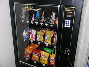 Man tears apart vending machine with grinder