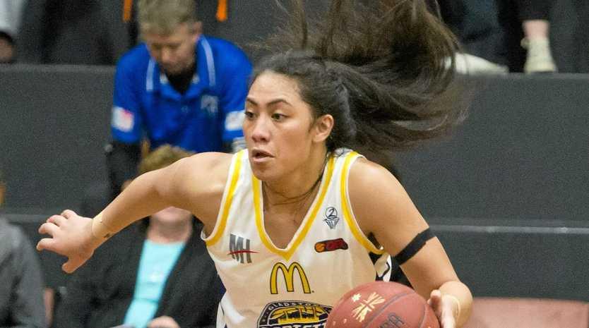 Power's Milomilo Nanai. QBL Friday night Basketball between Port City Power and Townsville.