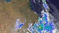 This satellite image shows the system moving across CQ
