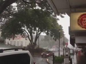 Heavy rain hits Rocky