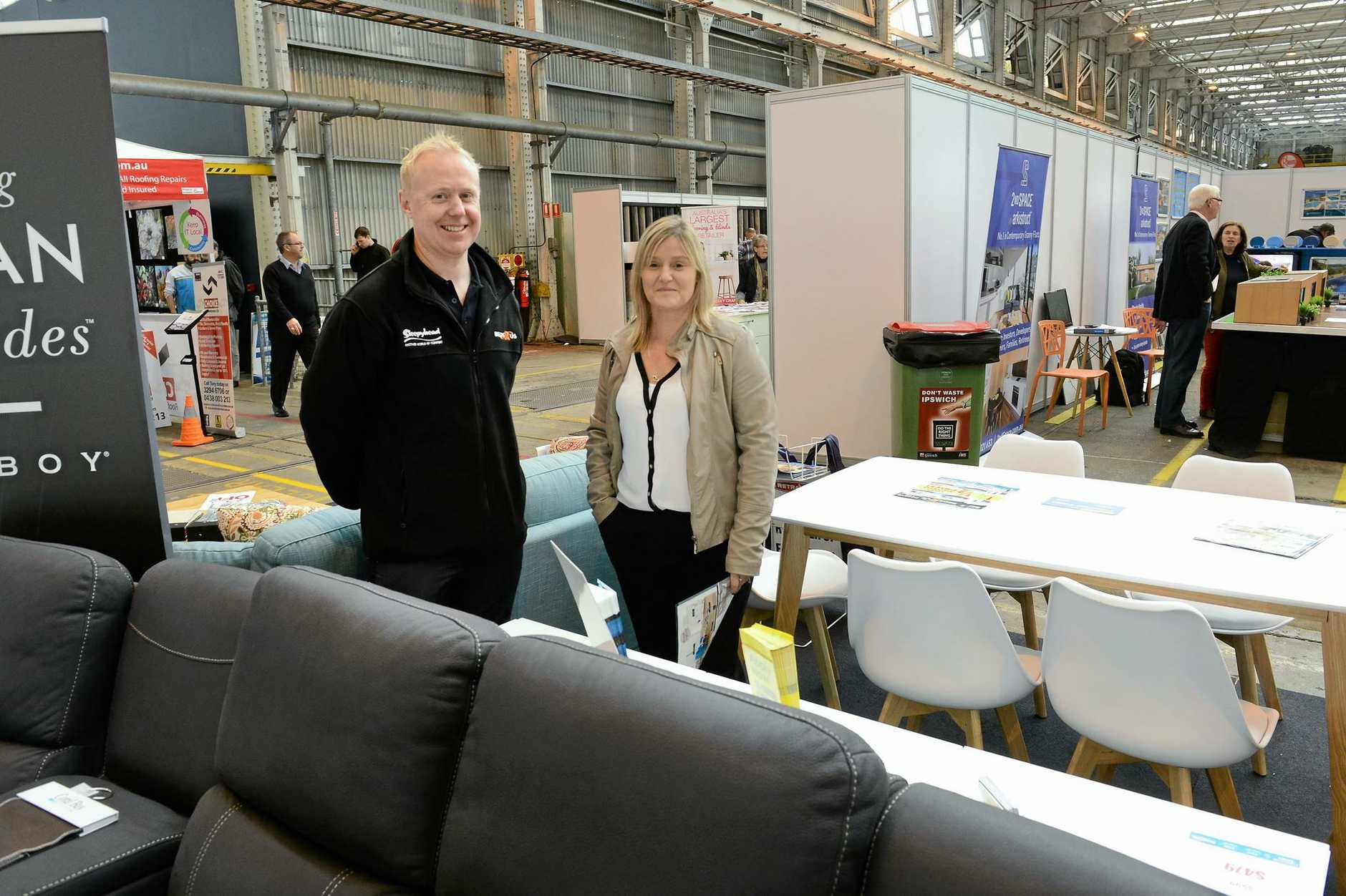 David Holdorf and Kerry Dent of Ipswich Furniture Court were kept busy over the two days of the Home Show.