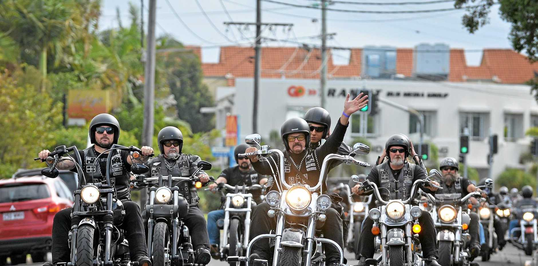 SUPPORT: Sons of the Southern Cross Motorcycle Club members ride in Lyla Van Jole's charity ride.