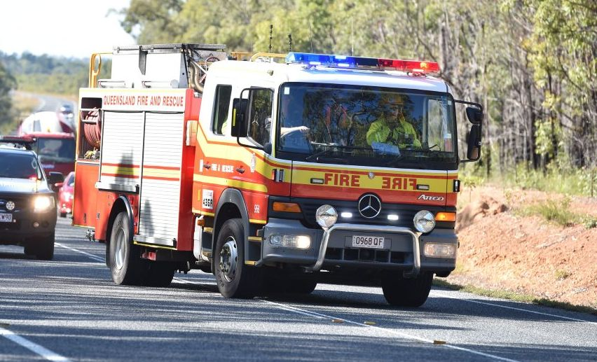 QFES at scene of three-vehicle crash involving army truck