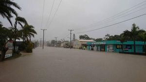 Charles St Yeppoon has significant flooding Photo: Contributed