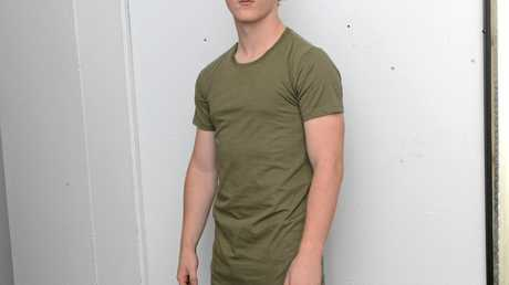 IN STORE: Damon Woodley models a House of Zenn t-shirt $19.95 and Andreas denim jeans $99.95.
