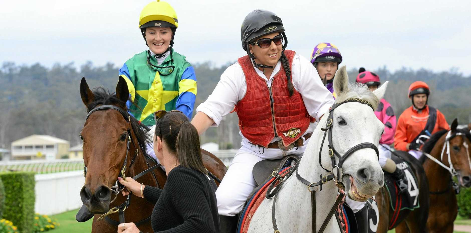 Apprentice jockey Brooke Stower shows her delight after riding Love A Rose to victory at Ipswich last Friday.