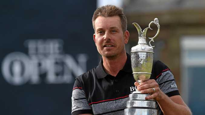 MAJOR BREAKTHROUGH: Henrik Stenson of Sweden holds the Claret Jug for winning the British Open Golf Championship at Royal Troon in Scotland.