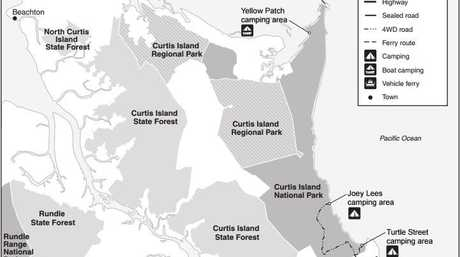 Map of Curtis Island.