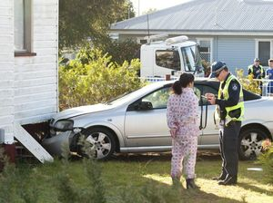P-plater slams into house