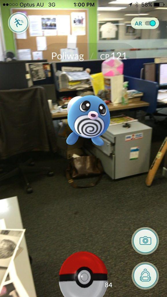 Pok mon invading the QT office.